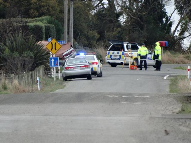 The single-vehicle crash happened at the intersection of TY Duncan Rd and Shortland Rd. Photo:...