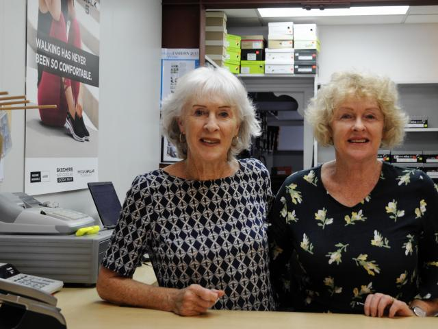 Jill May, left, and her sister, Sandra Blackadder, have sold their Rangiora Shoe Lines business...