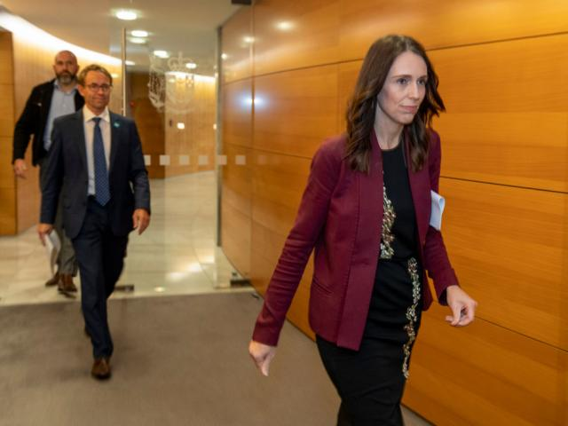 Prime Minister Jacinda Ardern and Director-General of Health Dr Ashley Bloomfield arrive for the...