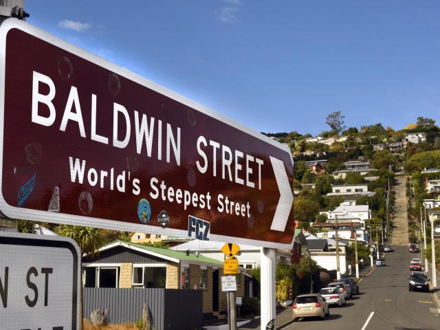 Baldwin St has reclaimed the title of World's Steepest Street. Photo: Stephen Jaquiery