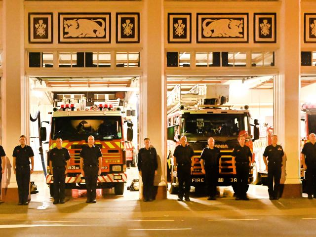 Fire and Emergency New Zealand crews from Dunedin Central, St Kilda and Willowbank stations...