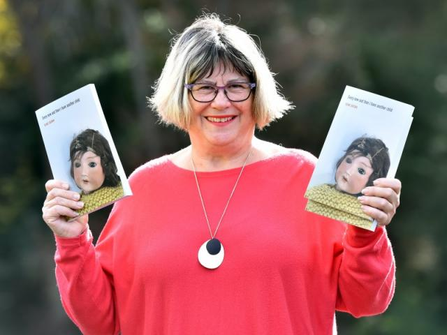 Vivid dreams ... Author Diane Brown with her new ''baby''. PHOTO: PETER MCINTOSH