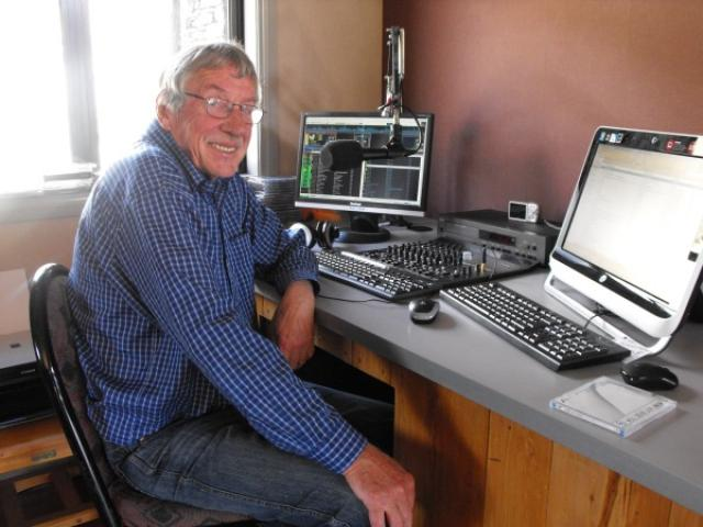 Chas Drader, pictured in his home Glenorchy Country 89.2FM studio in 2012. Photo: Mountain Scene