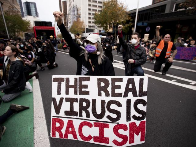 Thousands of people through New Zealand joined the Black Lives Matter protests. PHOTO: THE NEW...