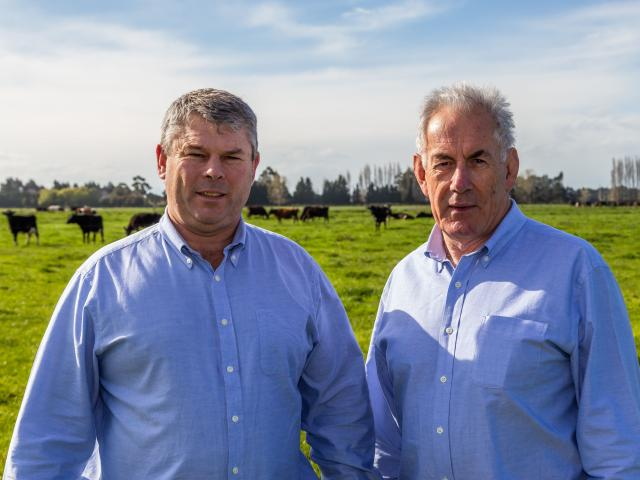 Graeme Pile (left) and his business partner, Andy Nurse, are helping farmers to apply less...