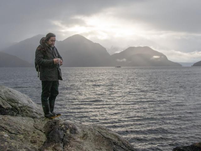 Oraka Aparima representative James York surveys a scene at Indian Island, where Captain James...