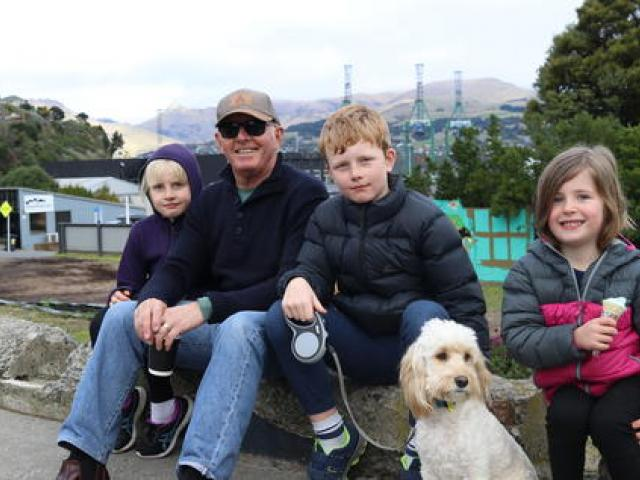 John Cumberpatch, who was enjoying some quality time with his grandchildren and dog Steve in...