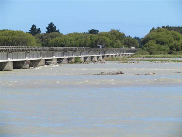The Waitaki River at Waitaki Bridge. Photo by ODT.