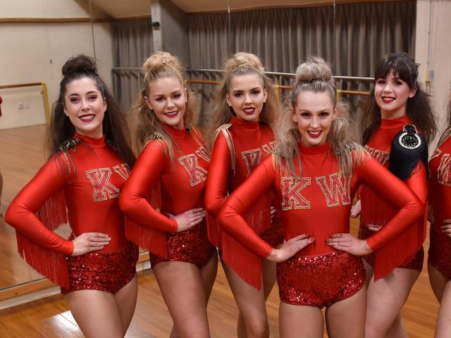 Otago Dance Association Performance Troupe members prepare for a fashion and dance show that will...