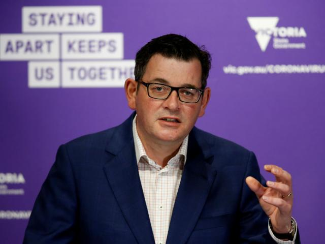 Premier of Victoria Daniel Andrews speaks to media during the daily Covid-19 briefing in...