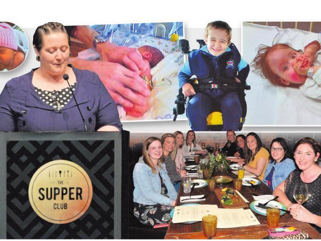 Dunedin mother Kathryn Vernal presents a speech last night, and a series of images reflect her...