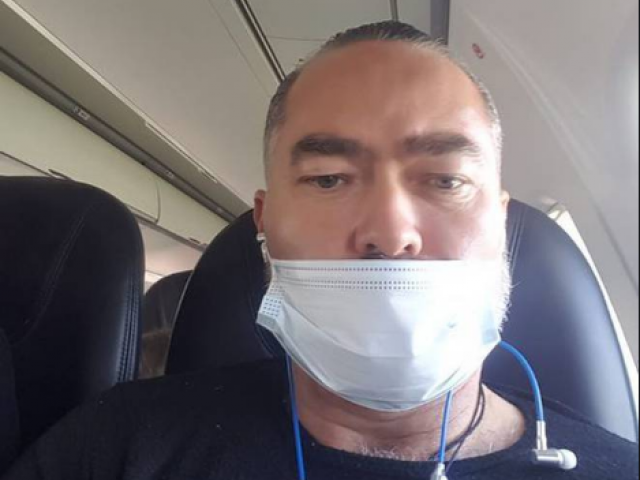 Advance NZ co-leader Billy Te Kahika Jr posted this photo on Facebook, with the mask not covering...