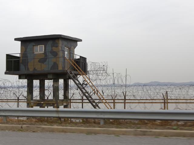 The heavily fortified border between North and South Korea. Photo: Getty Images