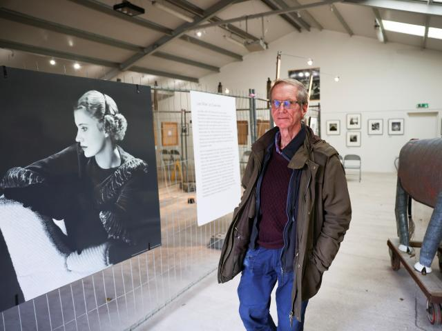 Antony Penrose, son of American photographer and surrealist Lee Miller,  at the exhibition of ...
