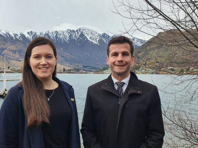 Act New Zealand deputy leader Brooke Van Velden and party leader David Seymour in Queenstown...