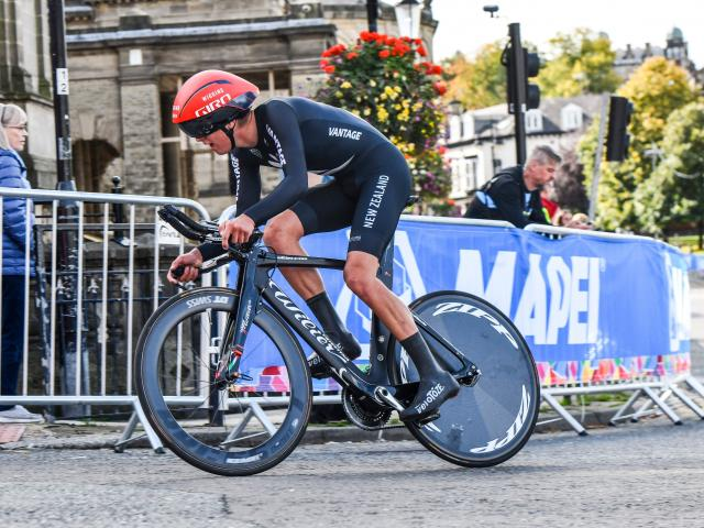 Reuben Thompson in action at the UCI Road World Championships in 2019. PHOTO: ROBERT JONES