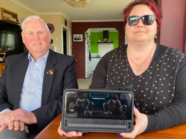 Foster Hope Otago co-ordinator Juanita Willems (right) shows Otago Service Clubs Medical Trust...