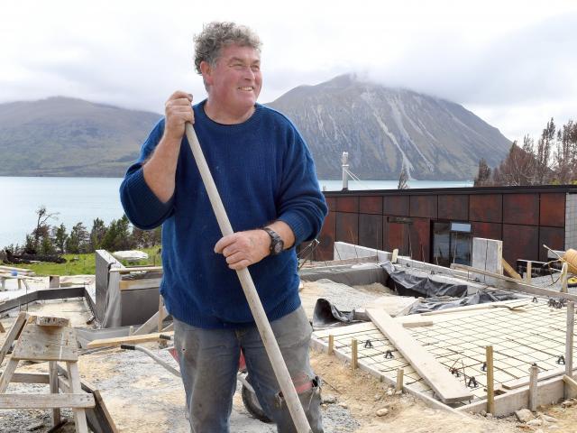 Omarama builder Bill Adams is determined to work towards rebuilding Lake Ohau. PHOTOS: STEPHEN...