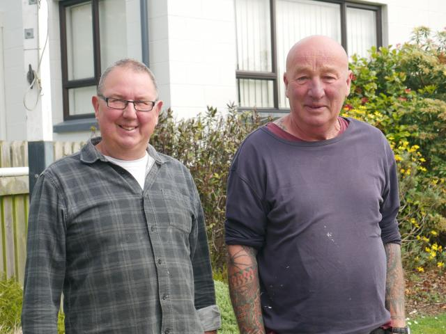 Scott Hall committee members Graeme McNulty (left) and Chris Helm requested money from the Otago...