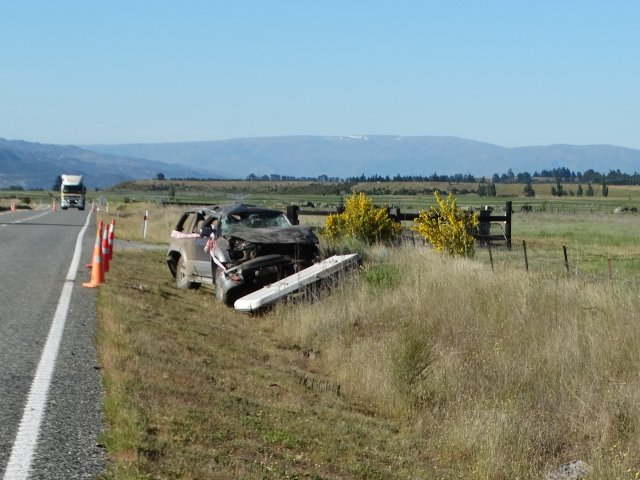 One person died in the single-vehicle crash near Tarras. Photo: Mark Price