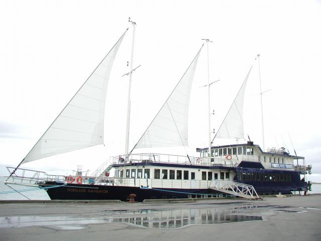 The 44m Fiordland Navigator was  launched from Bluff in 2001. PHOTO: ODT FILES