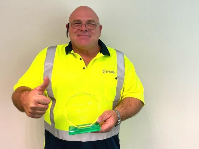 "Oamaru truck driver Jason Coleman was ""blown away"" to be named driver of the year by Woolworth's..."