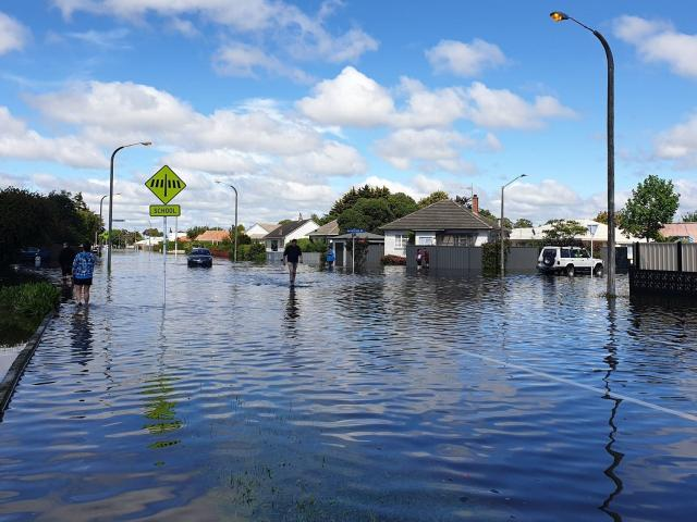 Flooding in Napier last month. Photo: RNZ