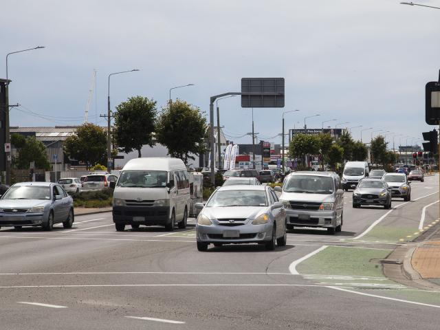 Moorhouse Ave tops the list of Christchurch's busiest roads, with about 52,600 vehicles using it...