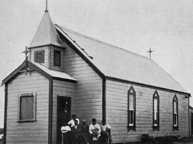 The new undenominational church built by and dedicated to God by Tahu Wiremu  Ratana. — Otago...
