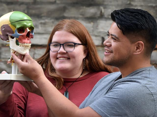 University of Otago student Tamara Nash (20), who is studying biological anthropology at the...