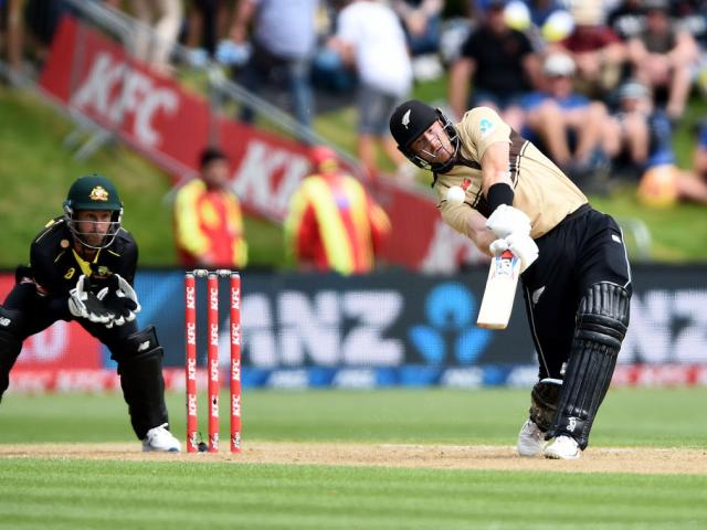Black Caps opener Martin Guptill smashed 97 off 50 balls in Dunedin today. Photo: Getty Images