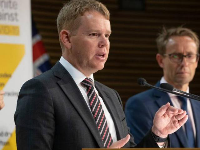 Covid Response Minister Chris Hipkins and Director General of Health Ashley Bloomfield. Photo;...