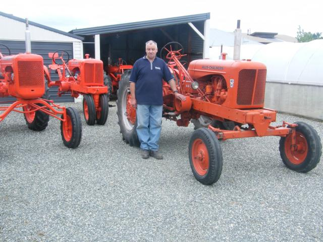 Former Edendale man Neil Irwin restored more than a dozen Allis Chalmers tractors and made a...