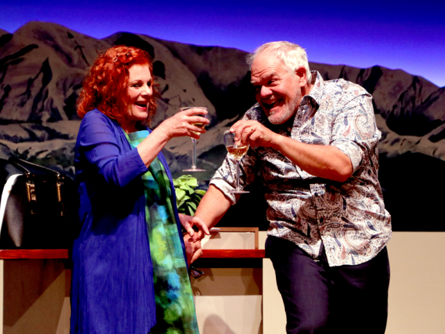 Winding Up actors Mark Hadlow and Darien Takle. Photo: The Court Theatre