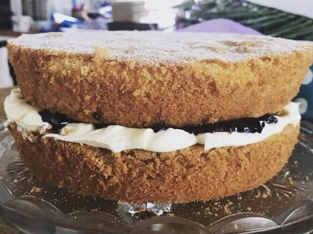 Mum's Victoria sponge is very easy to make. PHOTOS: ELSIE BERRY