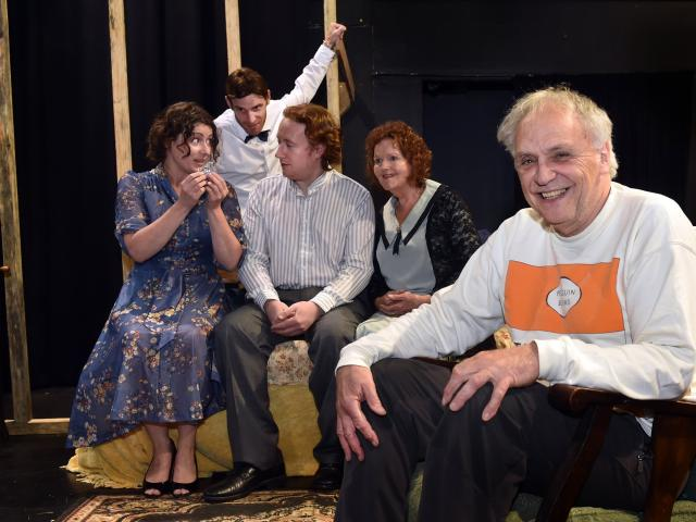 Director Joseph Cecchi (front) and cast (from left) Kimberley Buchan, Cheyne Jenkinson, Dylan...
