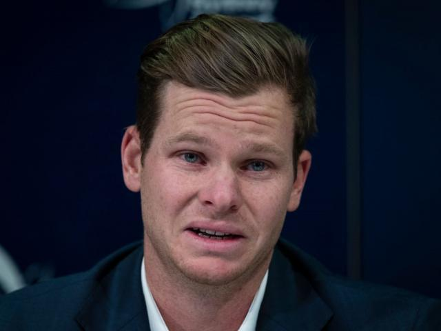 Steve Smith gave a teary-faced confession to sandpaper-gate in 2018. Photo: Getty Images