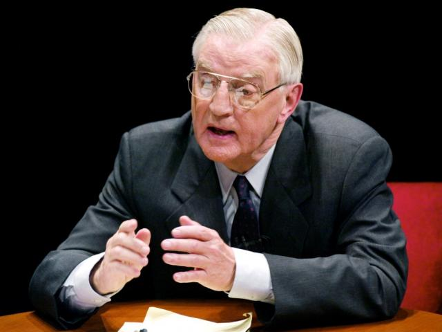 Minnesota Democratic candidate for the US Senate and former Vice President Walter Mondale makes a...