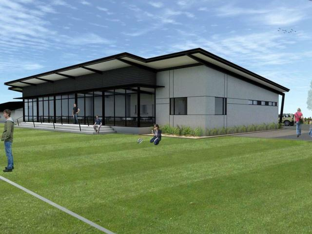 An artist's impression of the Halswell Hornets rugby league club's new rooms which are finally...