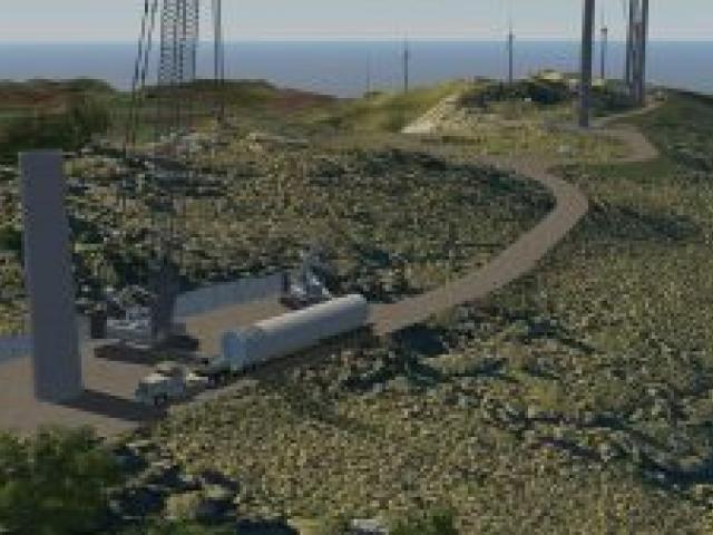 An artist's impression of the Mt Cass Wind Farm under construction. Image: AECOM