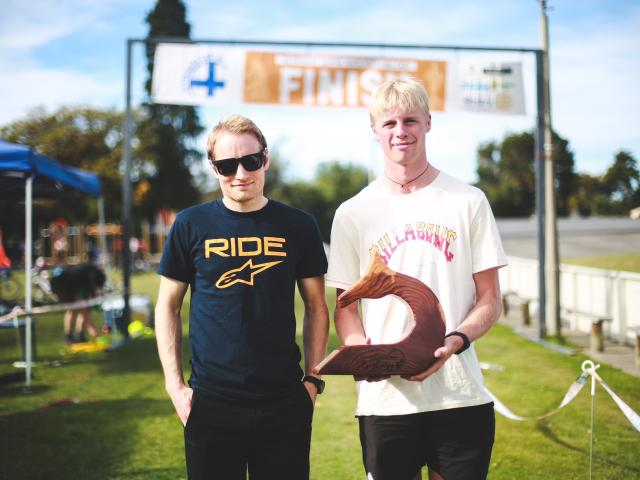 Oamaru's Tim Rush (left) and Kaleb Hayes won the 2021 Whitehorse Big Easy team challenge. PHOTO:...