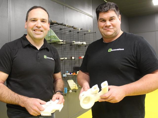 Fi Innovations advanced manufacturing manager Derek Manson (left) and owner Gareth Dykes. PHOTO:...
