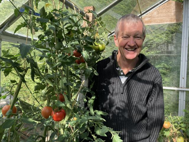 Former Balclutha rural postie David Fenton doing what he loves at his country home. PHOTO: MARY...
