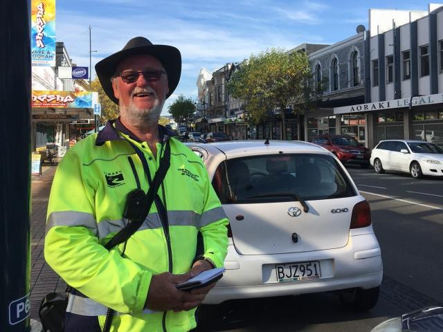 Timaru parking officer Mike Nicholls is handing in his ticket book and chalk after 10 years on ...