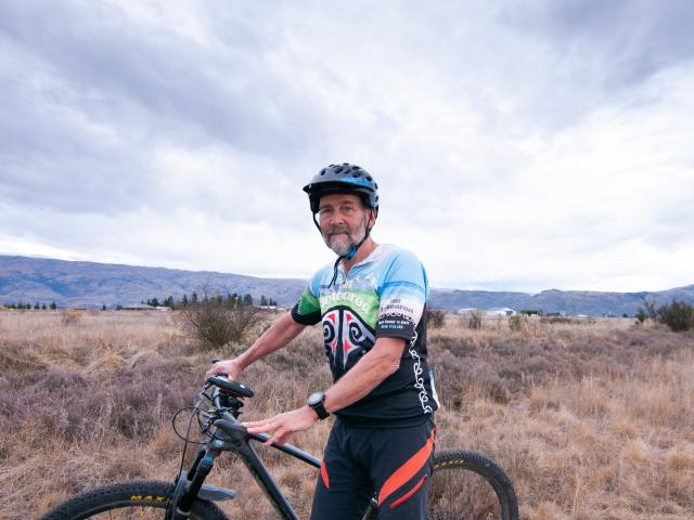 Mountain Bikers of Alexandra group president Joe Sherriff encourages people to stick to the track...