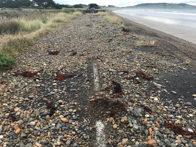Colac Bay Foreshore Rd is a combination of crumbing tarseal and loose stones. PHOTOS: LDR/MATTHEW...