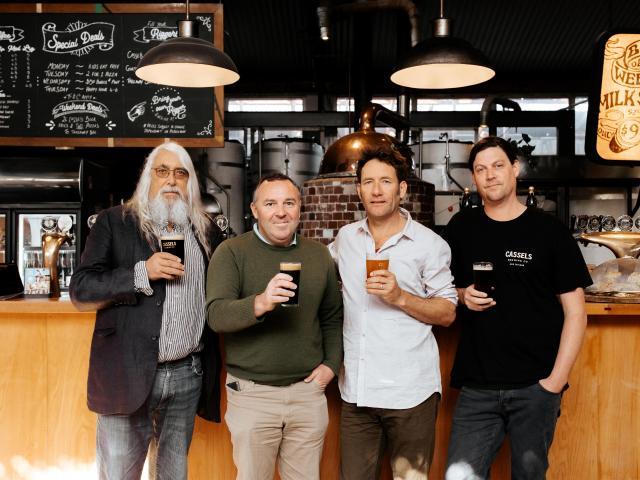 Cassels Brewing's owner/director Alasdair Cassels, executive brewer Simon Bretherton, director...