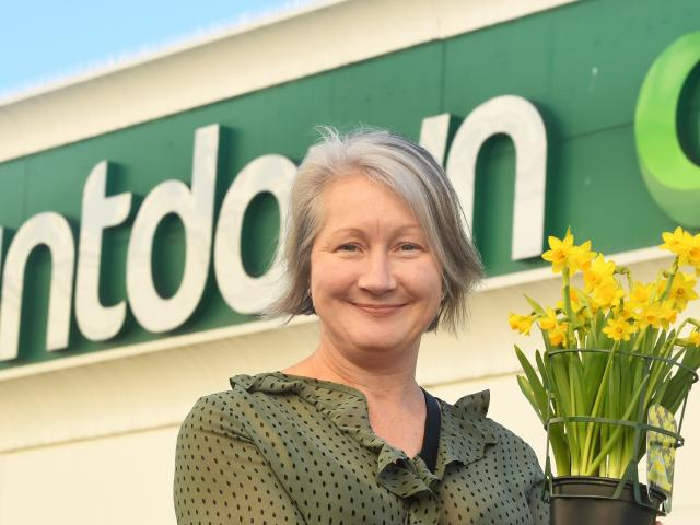 Dunedin woman Tracey Gamble is keen to give daffodils to plant in the garden at ...