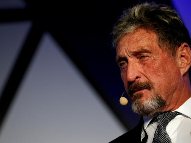 John McAfee was wanted in the US on  tax evasion charges. Photo: Reuters