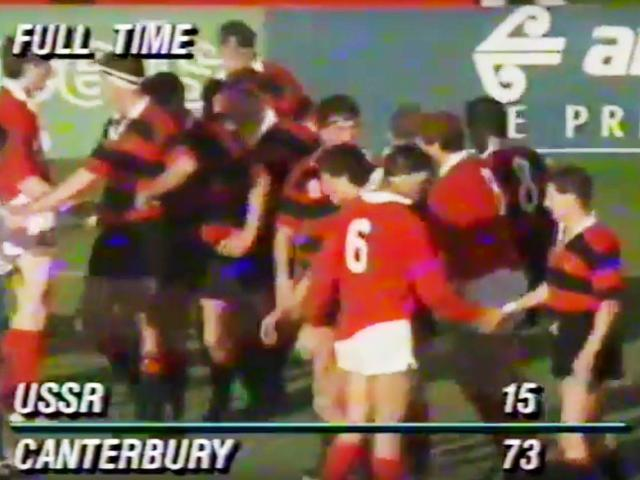 Full time in the Canterbury v USSR match. Photo: Supplied